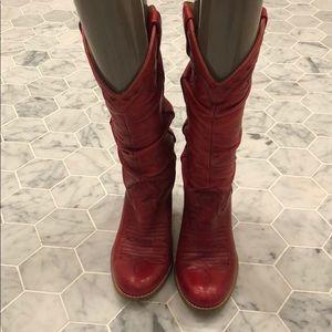 Jessica Simpson high heeled cowboy boots